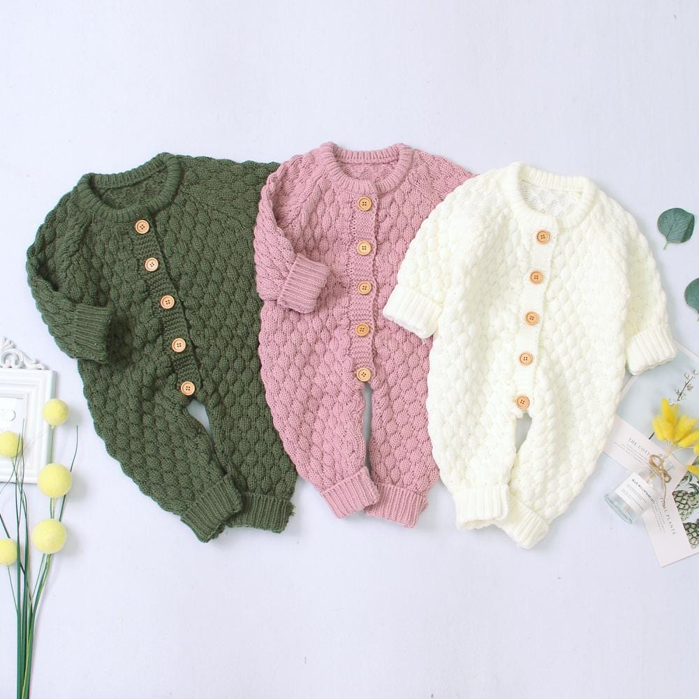 Waffle Knit Button-Front Bodysuits