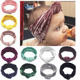 Velvet Large Knot Headband
