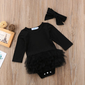 Black Tutu Romper Set