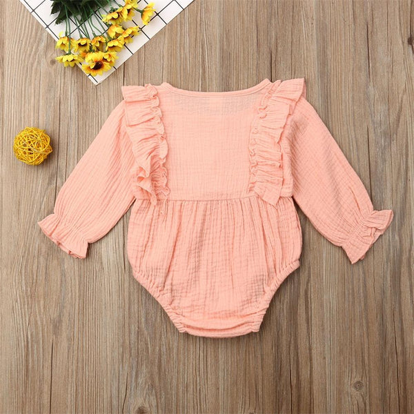 Long Sleeved Ruffle Romper