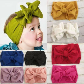 Big Bow Cotton Stretch Headbands