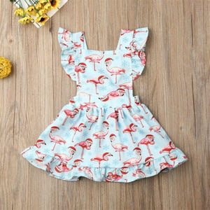 Blue Flamingo Dress