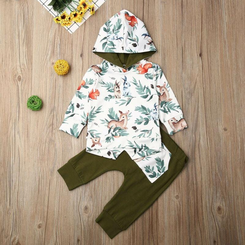 Deer Print 2pc set