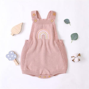 Knit Rainbow Romper