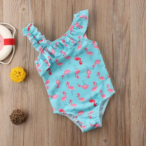 Flamingo Asymmetrical Bathing Suit