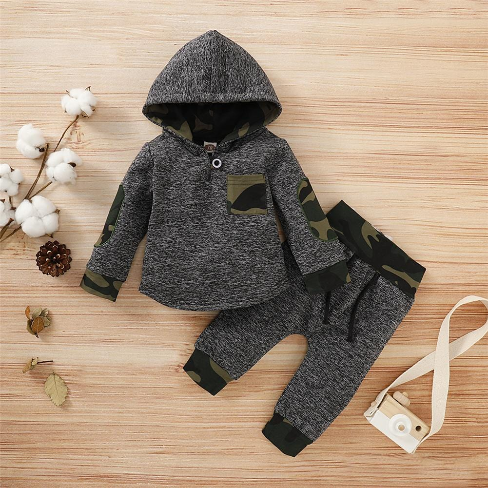 Heather and Camo Sweat Set