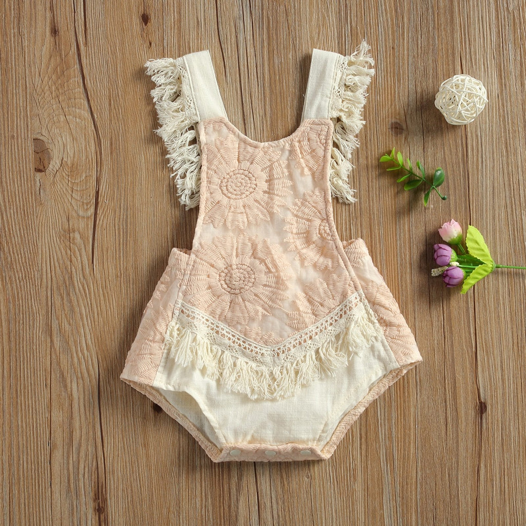 Sunflower Boho Romper