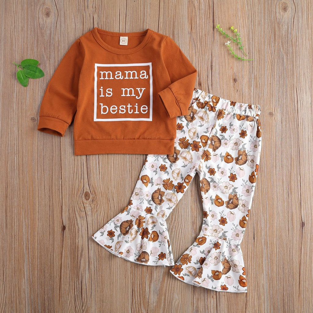 Mama Is My Bestie Long Sleeve Set