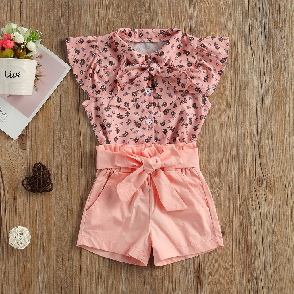 Blush Bow Short Set