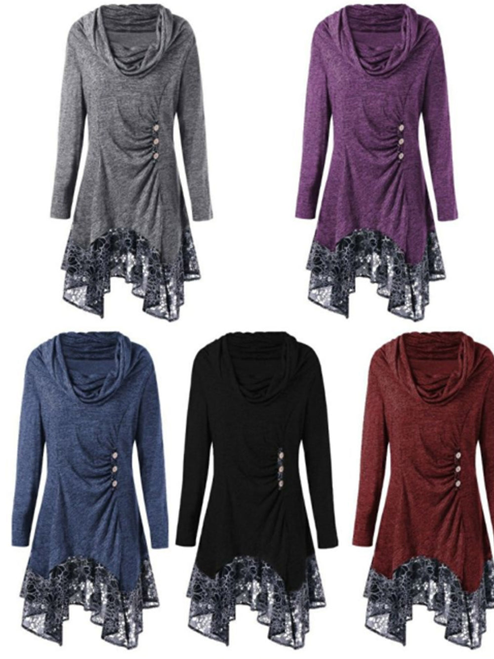 Sweet Appliqued Long Sleeve Fall Dresses