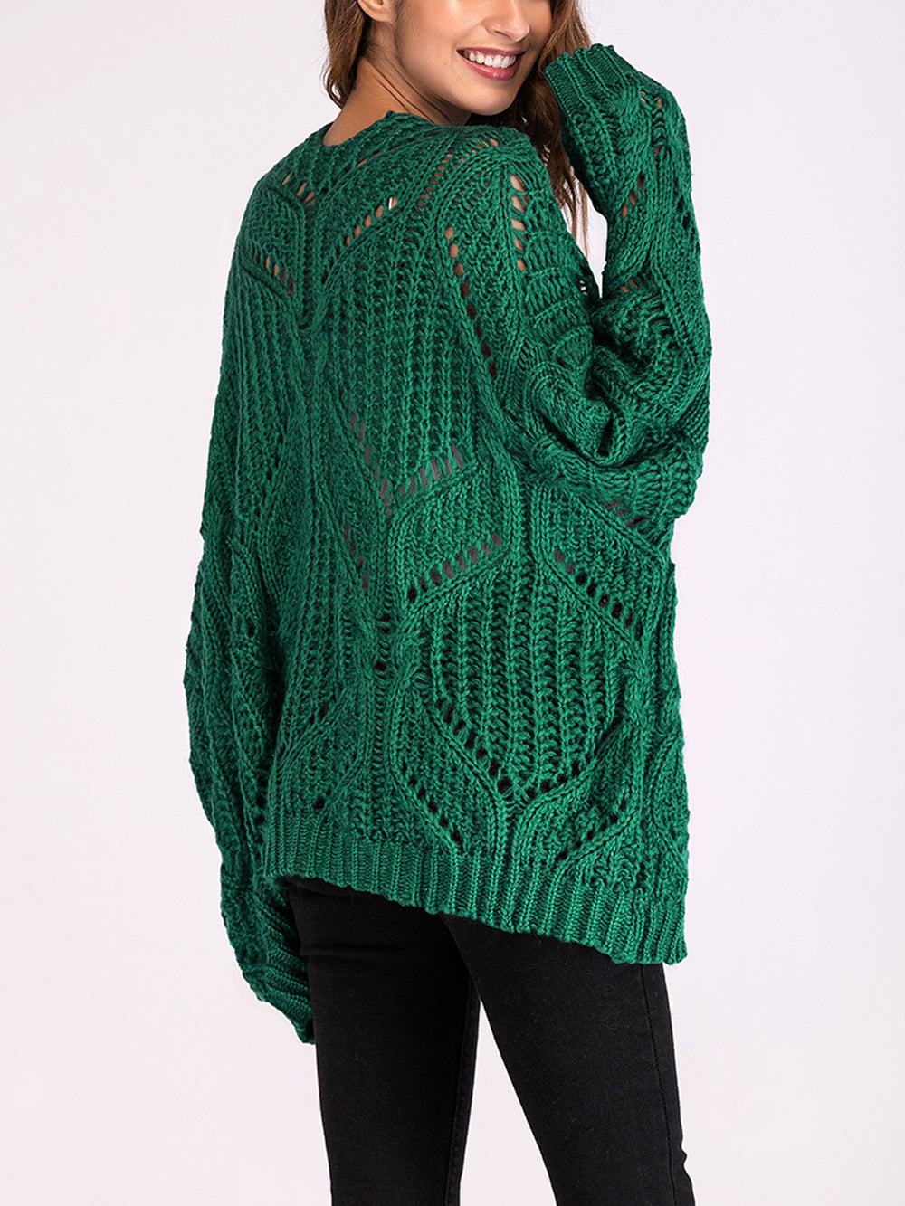 Casual V Neck Knitted Cardigans