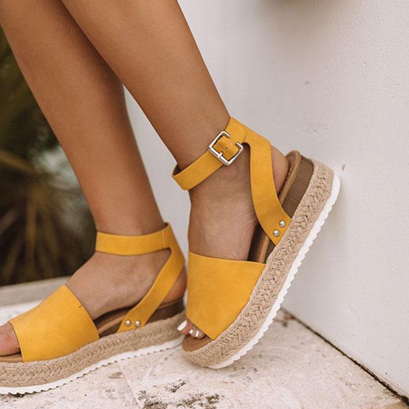 Platform Sandals Espadrilles Leopard Women Shoes