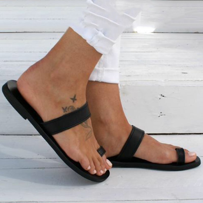 Summer Daily Flip Flop Flat Heel Shoes