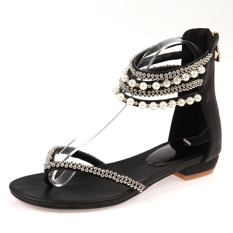 Womens Flat Heel Flip-Flop Shoes