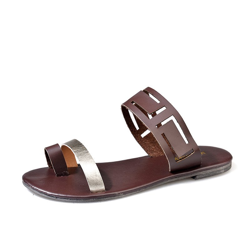 Womens Shoes Casual Flat Heel Hollow-Out Sandals