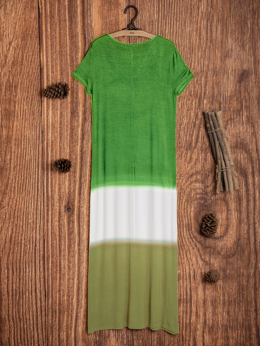 Patchwork Colour Block Maxi Dress Cotton Simple Shift Dress