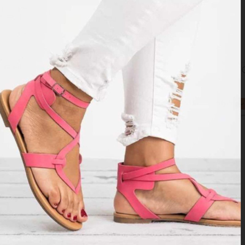Women Casual Buckle Plus Size Sandals