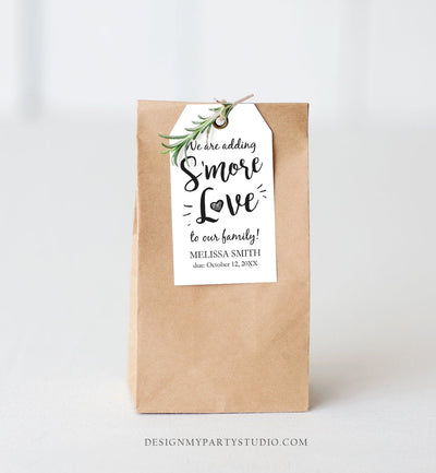 Editable S'more Love Baby Shower Favor Tags We Are Adding Smore Love To Our Family Smores Thank You Tag Printable Corjl Template 0276