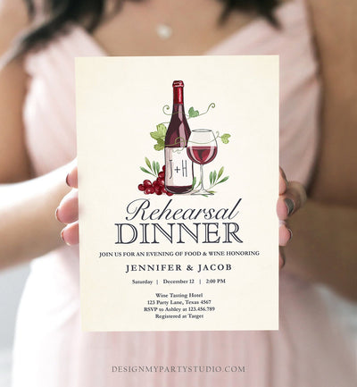 Editable Wine Tasting Rehearsal Dinner Invitation Rustic Winery Cheers To Love Country Couples Joined Bridal Shower Corjl Template 0234