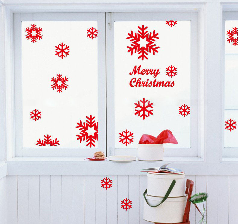 Wall Window Stickers Snowflake Christmas Xmas Vinyl Art Decoration Decals Christmas decoration navidad natal adesivo de parede