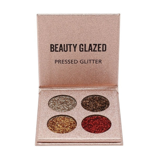 BEAUTY GLAZED Portable 15 Colors Eye Shadow Palette Pressed Highlighter Glitter Powder Eyeshadow Pallete Cosmetics Sunset