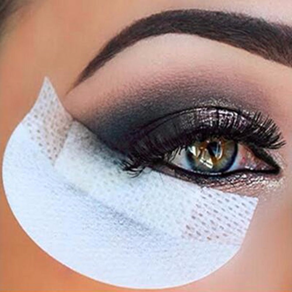 20pcs Pro Cotton Eyeshadow Shields Under Eye Patches Disposable Eyelash Extensions Pads Protect Pad Eyes Lips Makeup Tool