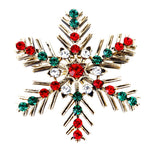 Holiday Christmas Xmas Snowflake Brooch Pin Jewelry for Christmas Party Dress Decorations