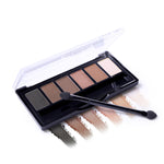 BONNIE CHOICE Eye Shadow 6 Colors Dazzling Shimmer Matte Eyeshadow Palette Waterproof Sweat-proof Eyeshadow Cosmetic Makeup