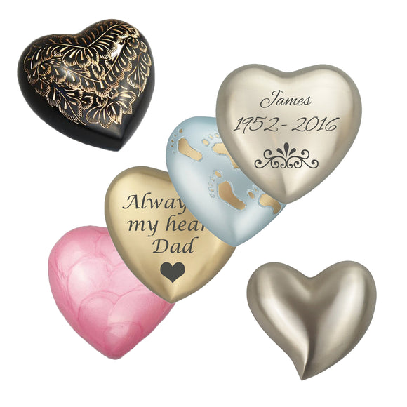 Heart Shaped Keepsake Urns