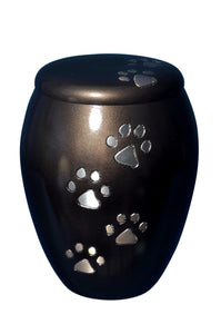 Brown with Paw Prints Urn - ETP07