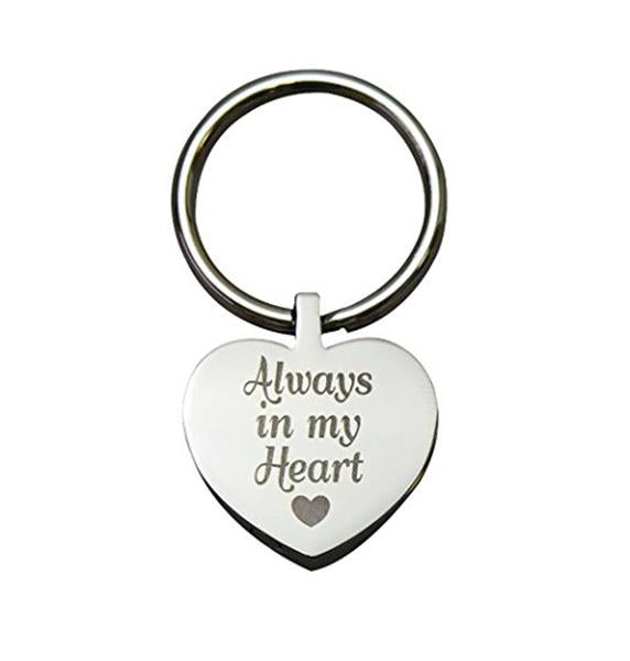 Always in my Heart Shaped Urn Keyring - ETK02