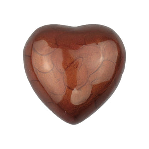 Brown Enamel Heart Keepsake Urn - ETH24