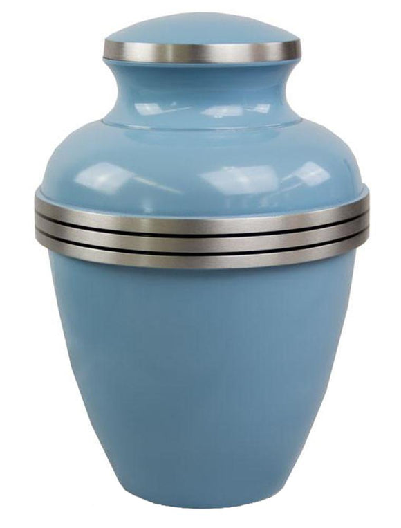 Baby Blue Medium Urn - ETC02