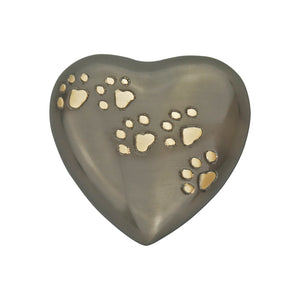 Golden Paws Slate Heart Keepsake Urn - ETH01