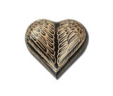 Angel Black and Gold Wings Heart Keepsake Urn - ETH04