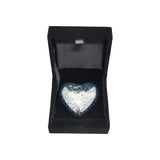 Silver Flying Birds Heart Keepsake Urn - ETH08