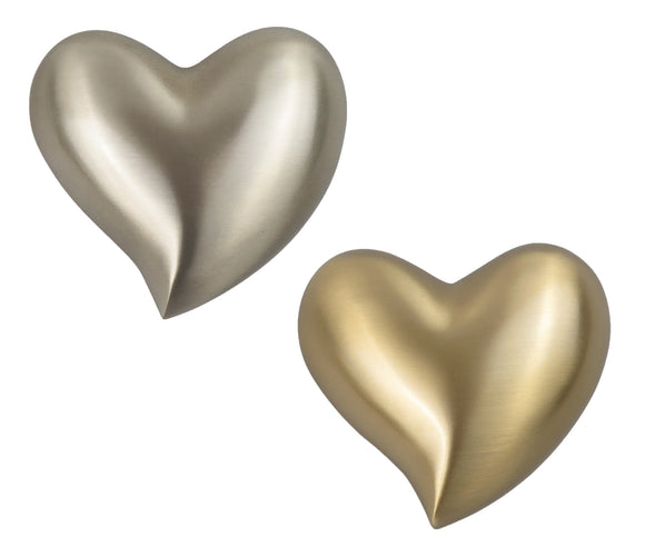 Elegant Heart Keepsake Urn in Gold or Silver Personalisation Available - ETH12