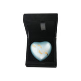 Baby Boy Blue Foot Prints Heart Keepsake Urn - ETH15