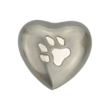 Paw Print on Heart Keepsake Urn - ETH37