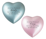 In Loving Memory Personalised Keepsake Urn in Blue or Pink - ETH40