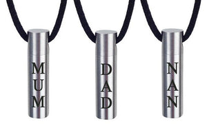 Plain Cylinder Family Name Cremation Ashes Pendant - ETJ32