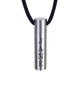 Personalised Cylinder Cremation Ashes Pendant - ETJ38
