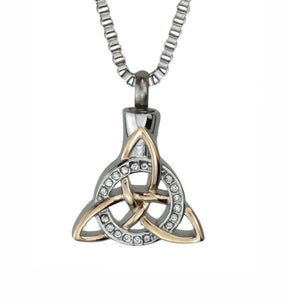 Celtic Trinity Knot Cremation Ashes Pendant - ETJ50