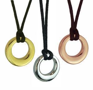 Agogo Cremation Ashes Pendant in Stainless Steel, Rose Gold & Gold Plated - ETJ53