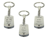 Always in my Heart Family Name Urn Keyring - ETK03