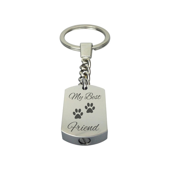 Best Friend Paws Urn Keyring - ETK06