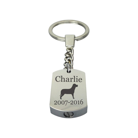 Personalised Dog Urn Keyring - ETK15