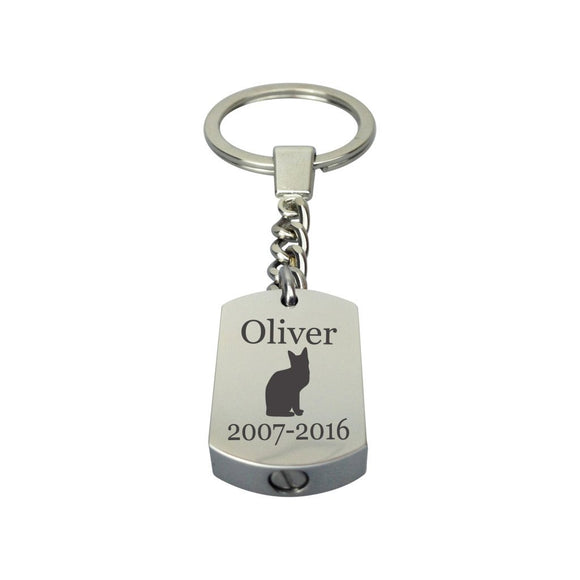 Personalised Cat Urn Keyring - ETK16