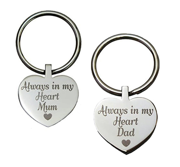 Always in my Heart Family Name Heart Urn Keyring - ETK25