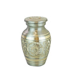 Miniature Silver and Gold Vintage Keepsake Urn - ETM06